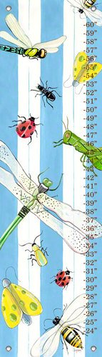 Oopsy Daisy Bugs and Stripes by Shelly Kennedy Growth Charts, 12 by 42-Inch