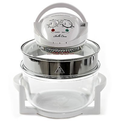 New Large 17 Litre Premium Convection Halogen Oven Cooker Black White Free £50 Extra. New In Stock