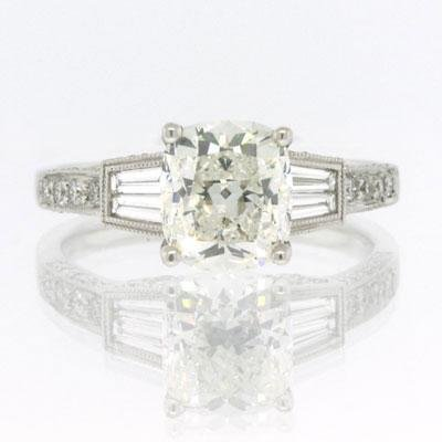 2.82ct Cushion Cut Diamond Engagement Anniversary Ring