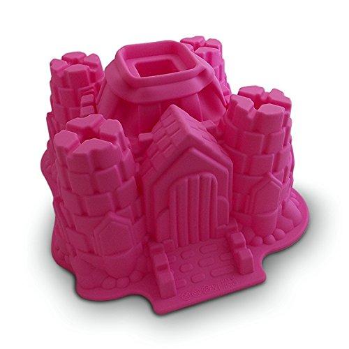 Moule à gâteau en forme château fort en silicone deco maison ustensile cuisine