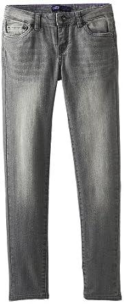 Levi's Big Girls' 535 Denim Legging, Grey Stitch, 7