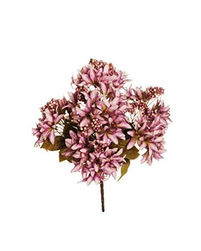 Evergreens Mazzo Di Nerine E Bacche Rosa 42 Cm
