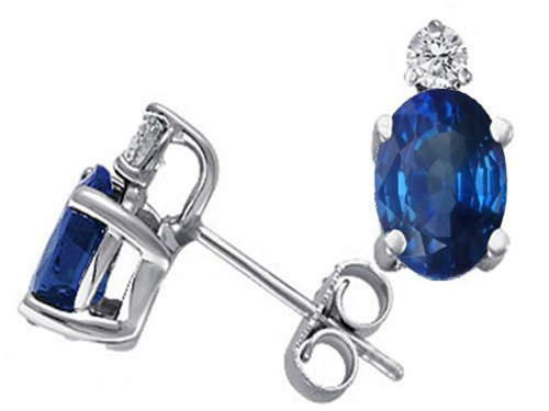 Oval-6×4-mm-Genuine-Sapphire-Earrings-Studs-14kt-Gold