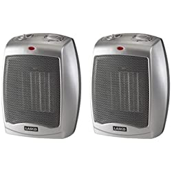 2-Pack Lasko 754200 Ceramic Heater with Adjustable Thermostat