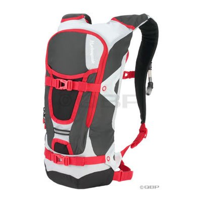 Hydrapak Reyes Hydration Pack: Gray/Red; 100oz