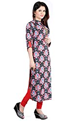 Feather Touch Women's Cotton Kurti (FT3633RD4_Red_44)