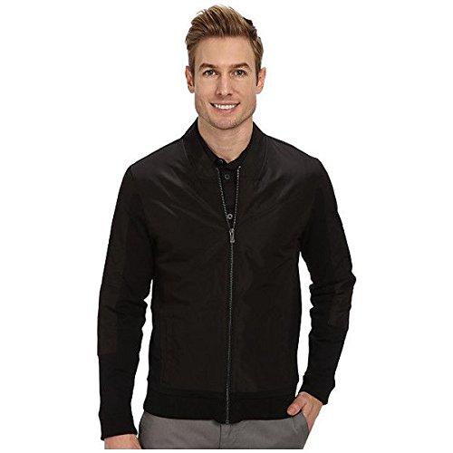 (カルバンクライン) Calvin Klein メンズ アウター ジャケット Full Zip Solid Ponte with Woven Trim Detail Sweatshirt 並行輸入品
