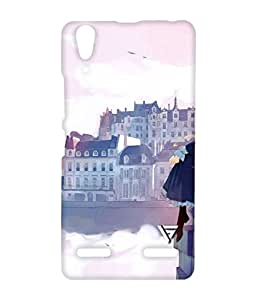Vogueshell Miss My School Printed Symmetry PRO Series Hard Back Case for Lenovo A6000