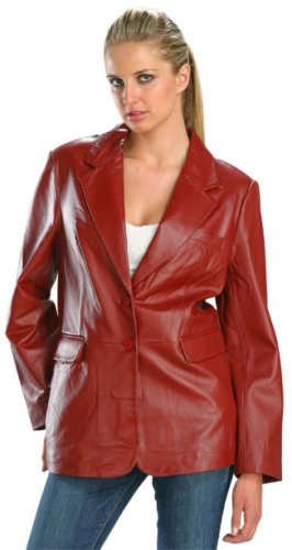 Buy Classic Dark Red Ladies Soft Touch Supple Lambskin Blazer