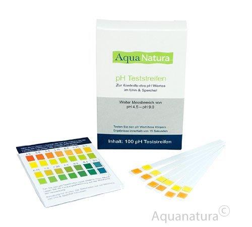 Aquanatura pH Teststreifen (100 Stück) Urin & Speichel