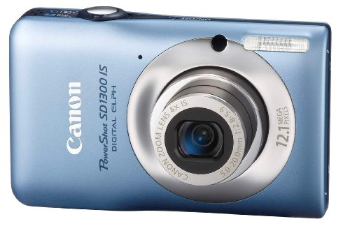 Canon PowerShot SD1300IS 12.1 MP Digital Camera with 4x Wide Angle Optical Image Stabilized Zoom and 2.7Inch LCD (Blue)