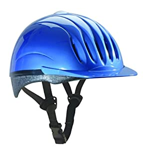 Ultra-Lite Equi-Lite Fashion Color Helmet with Dial-Fit-System, Blue Mist, Small