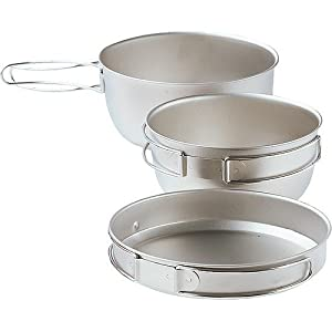 Snow Peak 3 Piece Titanium Cookset by Snow Peak