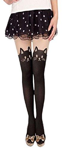 Am Landen Japanese Sexy Mock Cat/Bunny/Bow Tights Pantyhose(Cat)