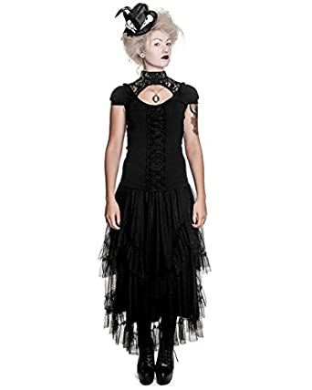 Spin Doctor Black Tymore Steampunk Gothic Top (UK Size 22) [Apparel]