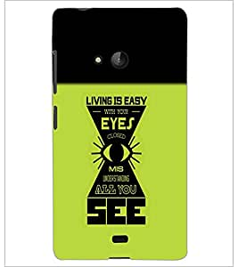 PrintDhaba Quote D-4212 Back Case Cover for MICROSOFT LUMIA 540 (Multi-Coloured)