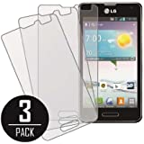 LG Optimus F3 Screen Protector Cover, MPERO Collection 3 Pack of Matte Anti-Glare Screen Protectors for LG Optimus F3