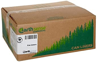 Webster Earthsense Recycled Tall Kitchen Waste Can Liner, Flat Seal, White