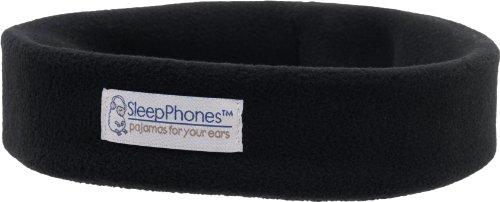 Acousticsheep Sleepphones Wireless Sleep Headphones (Black, Medium - One Size Fits Most)