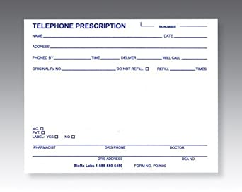 BioRx Prescription Pads (100 Sheets per Pad) [Pack of 10 Pads]