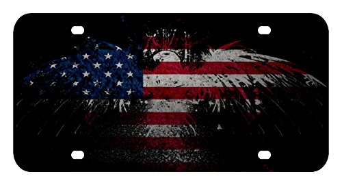 l169 american flag eagle license plate front custom novelty tag vanity frame holder wrap wraps