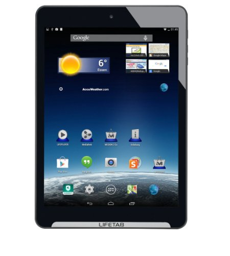 MEDION LIFETAB S7851 (MD 98675) 19,9cm (7,85 Zoll) Tablet PC (HD-Multitouch-Display, Android 4.4, 1,6GHz, 5MP, 16GB HDD, 1GB RAM, GPS) titan