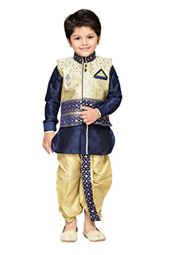 AJ Dezines Kids Kurta Waistcoat and Dhoti Pant for Boys