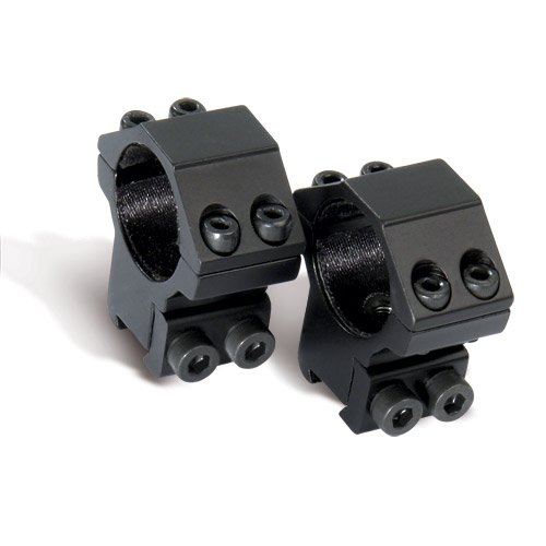 Crosman Center Point Full Size Two-Piece High Profile Integral Rifle Scope Mount for Airguns or Premium .22 Rifles