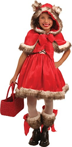 Girls Little Red Wolf Kids Child Fancy Dress Party Halloween Costume