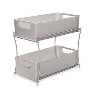 Two tier sliding basket organizer under sink for Andros kitchen bath designs
