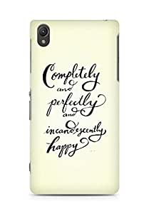 AMEZ completely and perfectly and incandescently happy Back Cover For Sony Xperia Z2