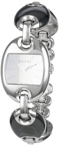 Gucci Women's YA121514 Marina Chain Small Black Ceramic and Steel Bracelet Watch