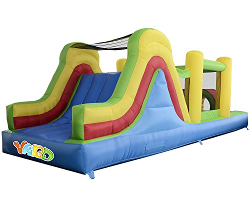 Yard Inflatable Bounce House Bouncer Obstacle Course Super Combo Slide Jumper 6 in 1 with Blower
