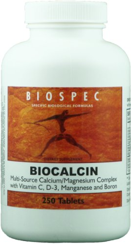 Biospec Biocalcin 250 Tablets. Fast-Acting, Well-Absorbed Calcium / Magnesium Complex