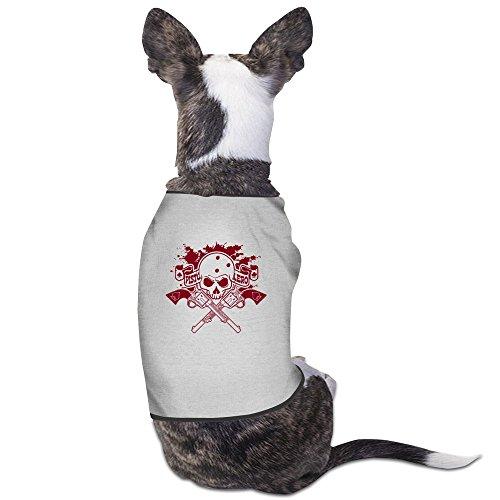 Art Skull Gray Pet Dogs Tee Shirts