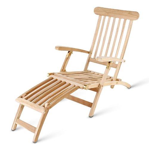 SAM® Teakliege Landu, Deckchair, Sonnenliege, Liege, Gartenliege, massiv, verstellbar, platzsparend zu verstauen im Winter online bestellen