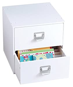 Amazon Com Jetmax Simply Built Craft Storage 2 Drawer