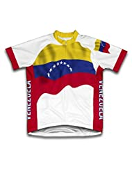 Venezuela Flag Short Sleeve Cycling Jersey for Women