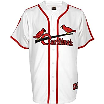 MLB Stan Musial St. Louis Cardinals 1967-97 Short Sleeve Synthetic Replica Jersey by Majestic