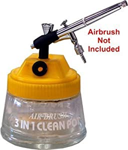 Master Airbrush® Brand Airbrush 3 in 1 Cleaning Pot-air Brush Holder-paint/car