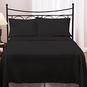 300 TC 1 PC Duvet Cover Solid Black Emperor Size 100% Cotton