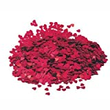 14g Red Heart table confetti - Fabulous Red Sparkle heart wedding party table confetti