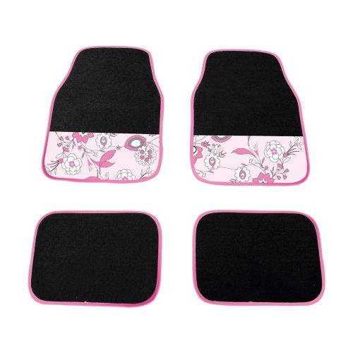 Carpoint 0318161 Fussmatten uni 'Pink Flower'
