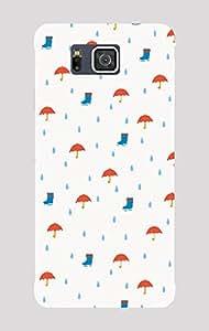 Back Cover for Samsung Galaxy Alpha rain elements