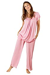 Bamboo Jersey Pajamas Clothing - Birthday Gift for Her Women Wife Girlfriend - 0052-PN-M