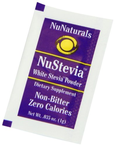 Nunaturals nustevia white stevia powder 1000 count box