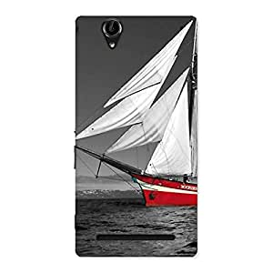 Vintage Ship Multicolor Back Case Cover for Sony Xperia T2