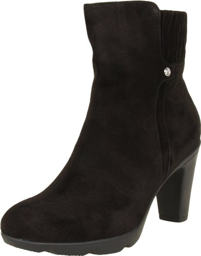 Blondo Women's Loann Ankle Boot,Black Casual Suede,8 M US