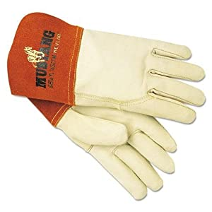 Memphis Gloves 4950M Mustang Mig/Tig Welder Gloves, Tan, Medium, 12 Pairs by Memphis Gloves