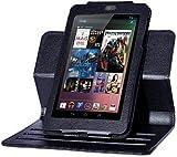 Google Nexus7用回転ケース 黒【ネットショップ ロガリズム】N7R-K